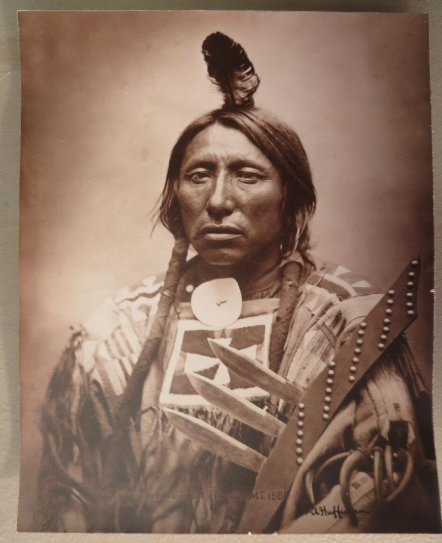 Jack Coffrin photograph of Native American marked