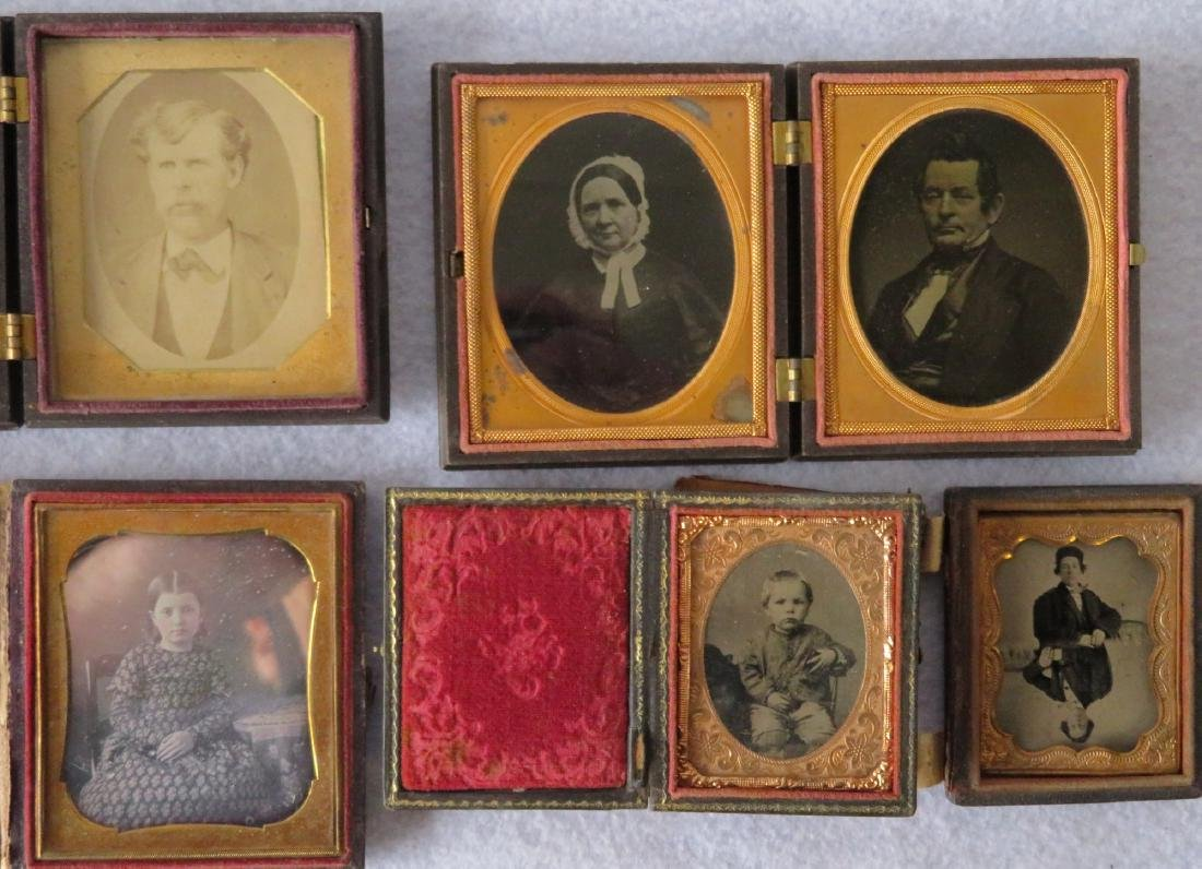 Grouping of 5 cased images including: 1) Ninth plate
