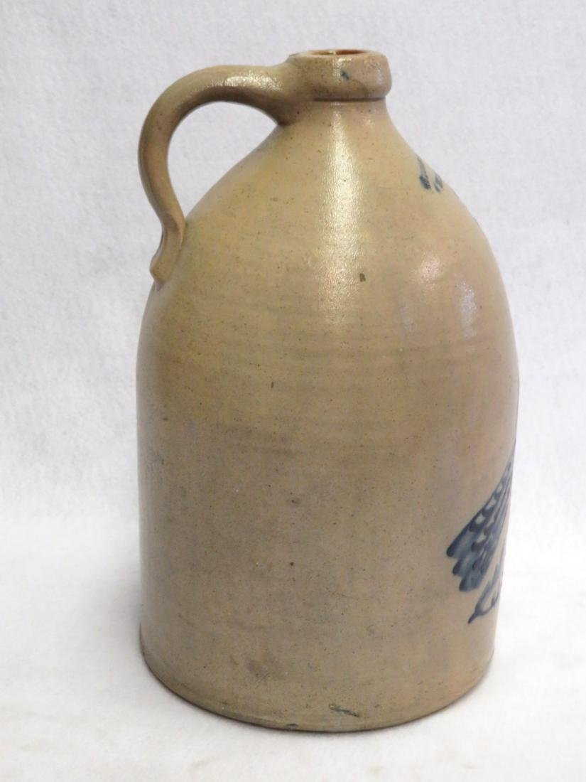 Stoneware 3 gallon jug decorated with large and deep - 6