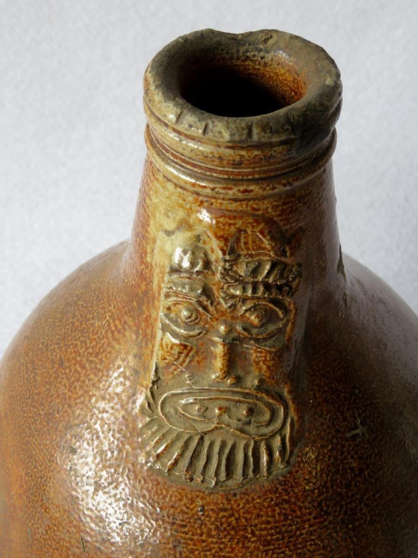 German Bellarmine stoneware ovoid jug with bearded face - 2