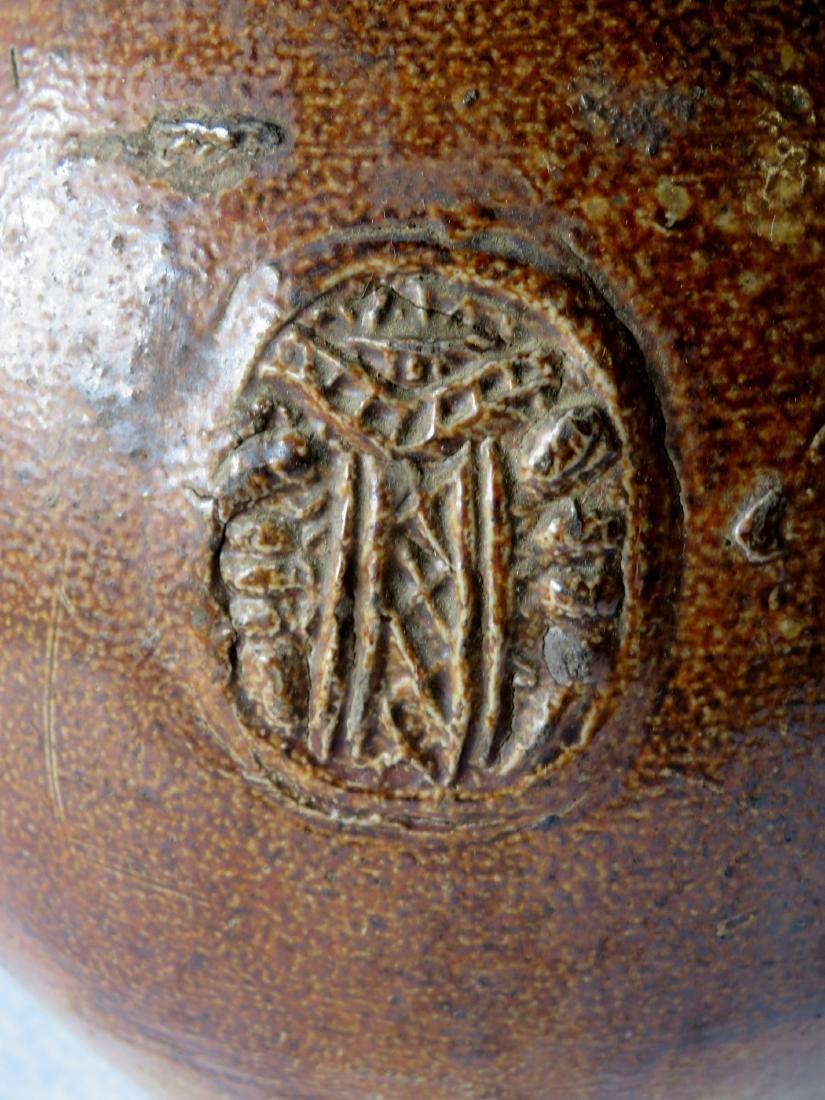German Bellarmine stoneware ovoid jug with bearded face - 3