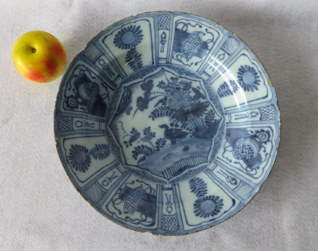 Tin glazed Delft charger decorated in blue and blue