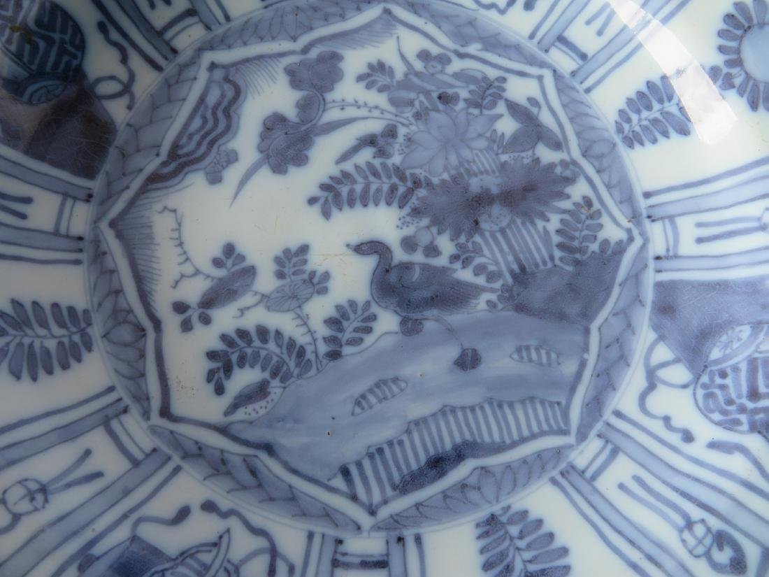 Tin glazed Delft charger decorated in blue and blue - 3
