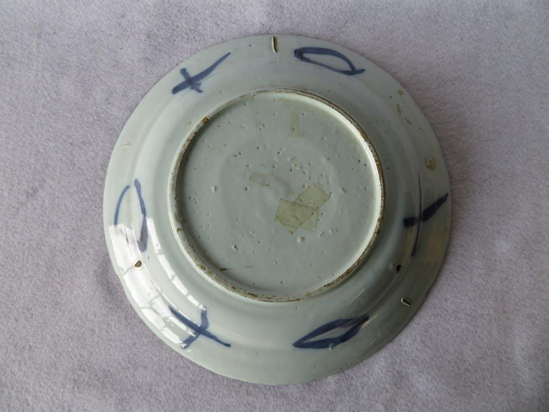 Tin glazed Delft charger decorated in blue and blue - 4