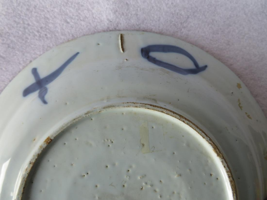 Tin glazed Delft charger decorated in blue and blue - 5