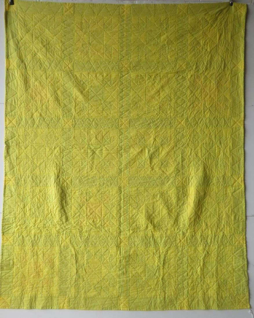 Patchwork quilt in a star pattern, mid to late 20th - 4