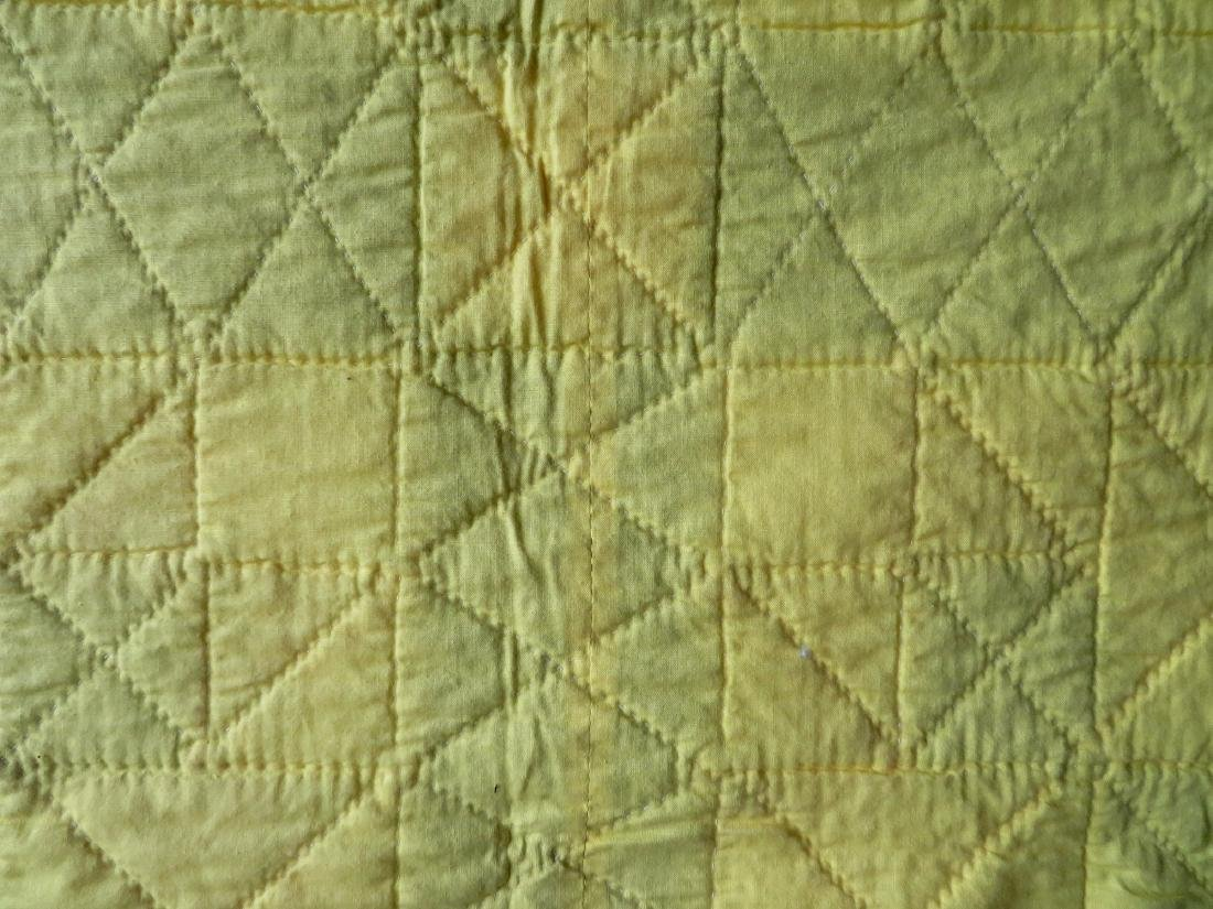 Patchwork quilt in a star pattern, mid to late 20th - 5