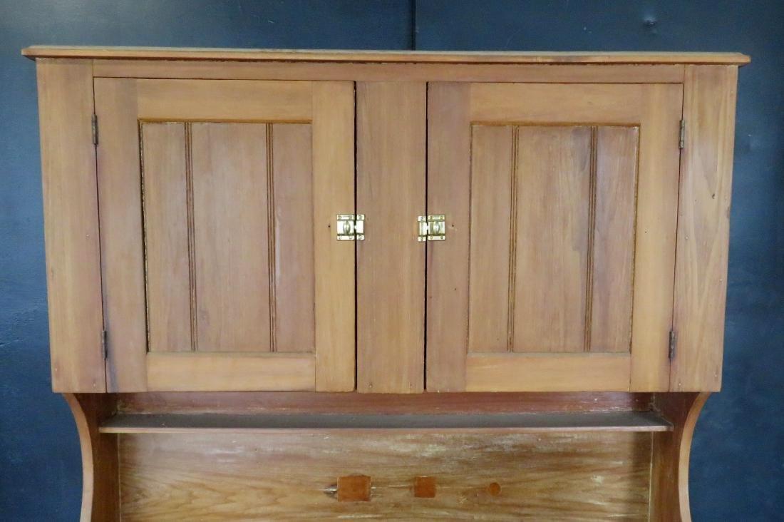 Poplar wood drysink with cupboard top having to 2 doors - 2