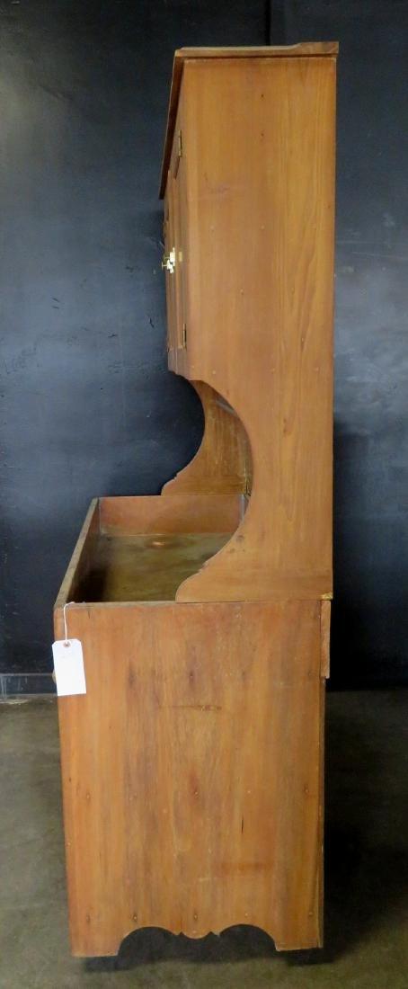 Poplar wood drysink with cupboard top having to 2 doors - 5