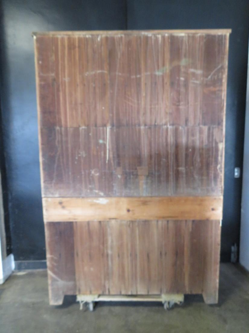 Poplar wood drysink with cupboard top having to 2 doors - 6