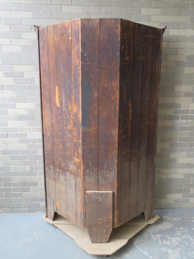 Poplar wood drysink with cupboard top having to 2 doors - 7