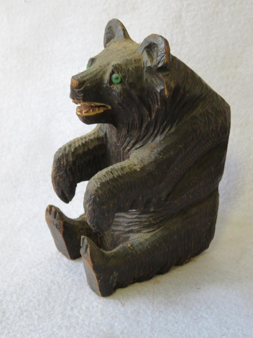 Grouping of 4 country items - carved bear, hat holders - 2