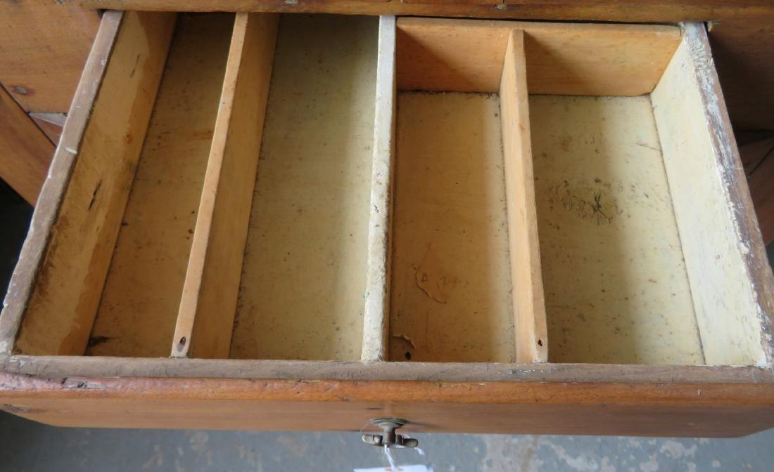 Primitive walnut corner cupboard having 2 doors over 1 - 3