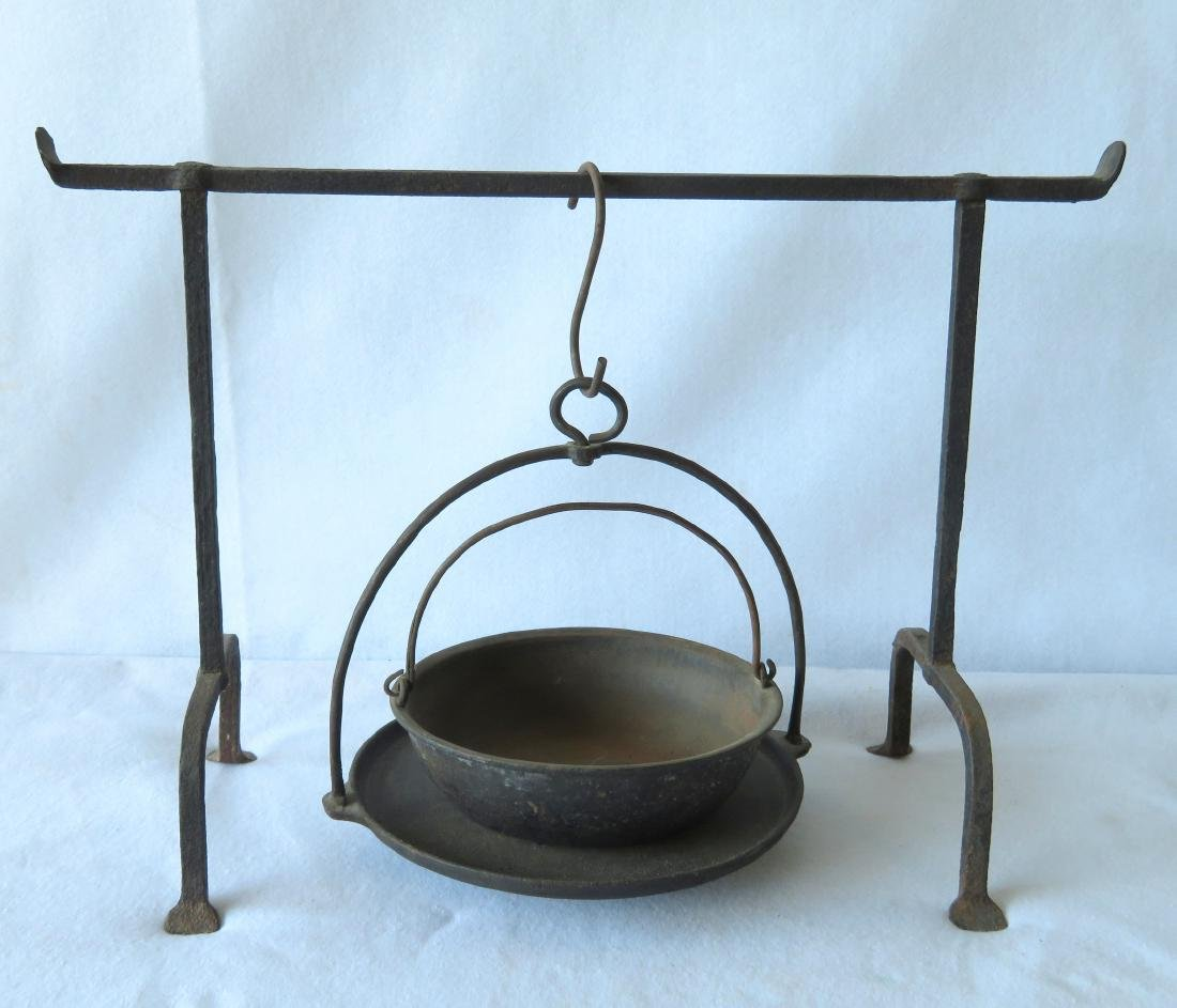 Grouping of 3 early iron  hearth items including a