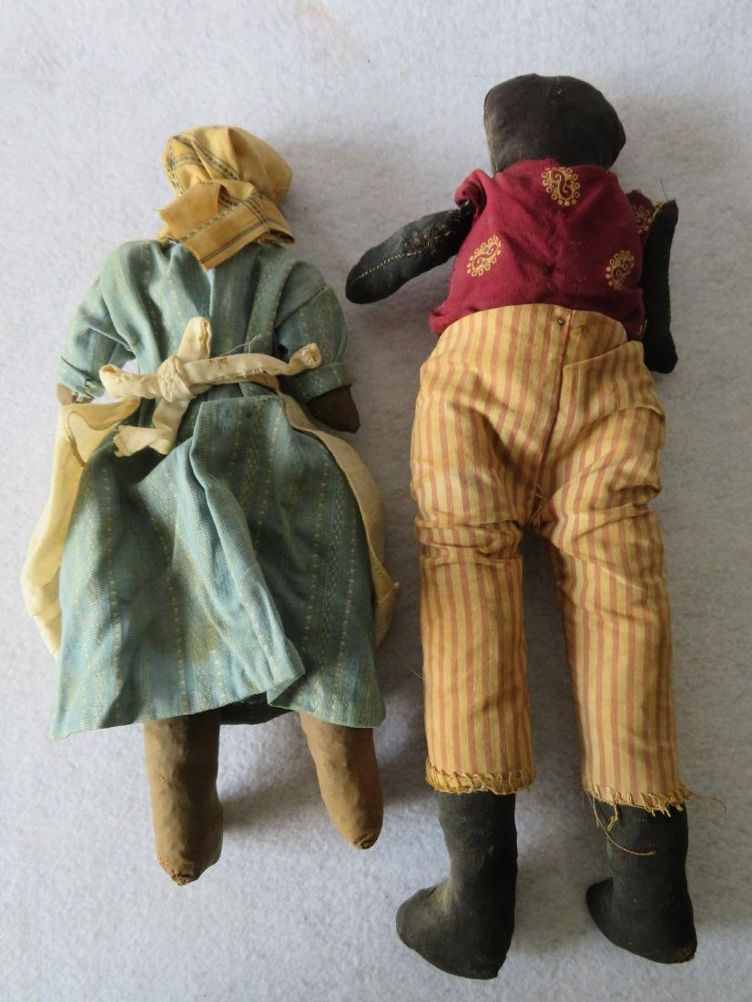 Two hand made golliwog dolls, both straw filled, and - 4