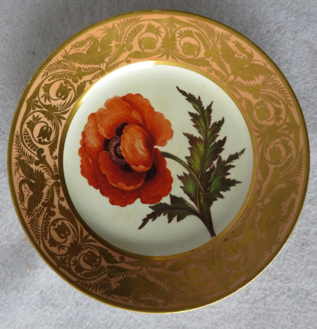 Derby plate with hand painted floral design entitled