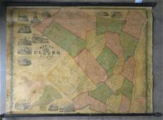 Rollup wall map entitled Map of Ulster Country New