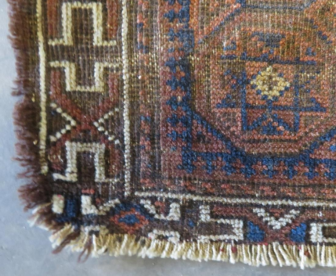 Small Baluch bag face rug, some use wear, but overall - 2