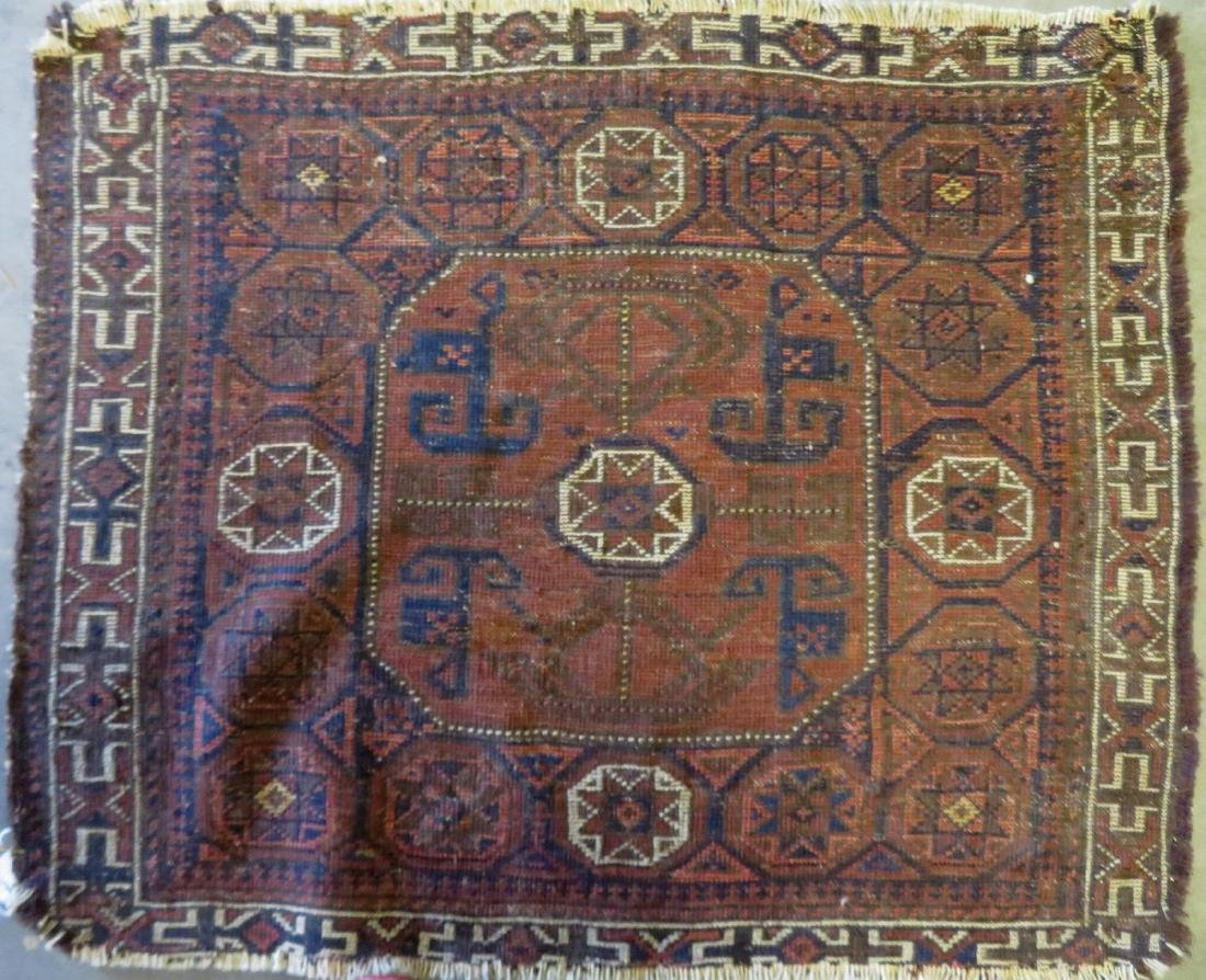 Small Baluch bag face rug, some use wear, but overall - 3