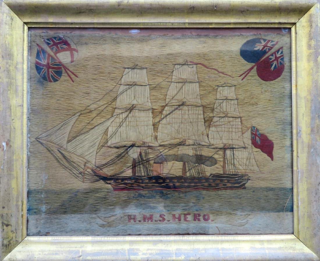 English ship woolley of the H.M.S. Hero, 19th century -