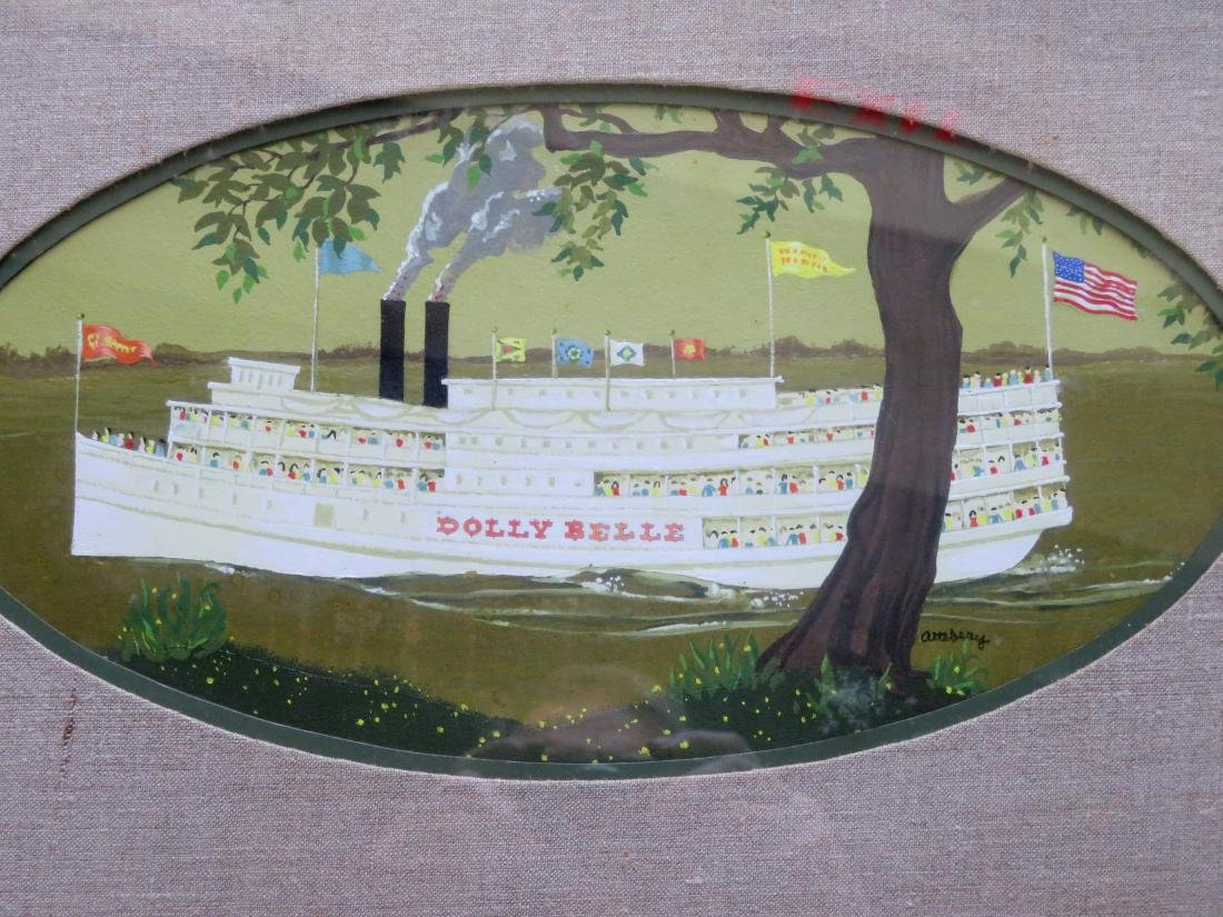 """O/B Paddle wheeler """"Dolly Belle"""" signed Attebery. 20th - 2"""