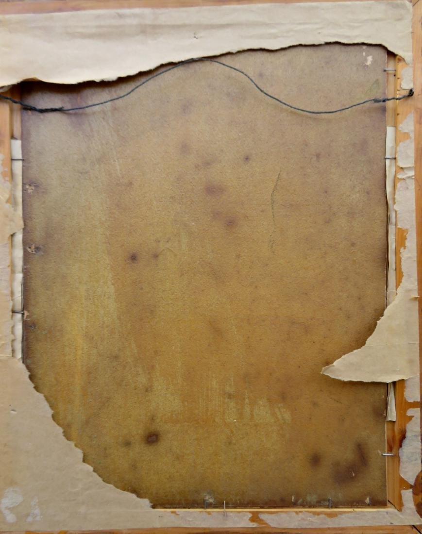 Oil on artist board of steam engine going through - 4