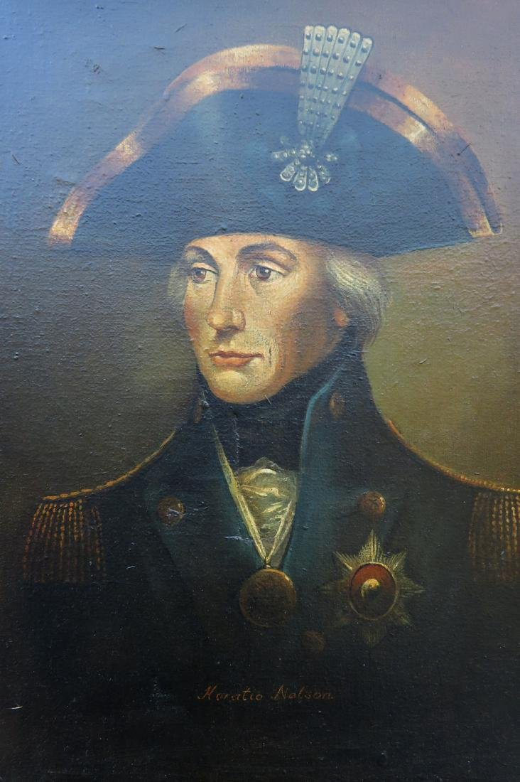 O/C Portrait of Admiral Horatio Nelson, signed Brian - 2