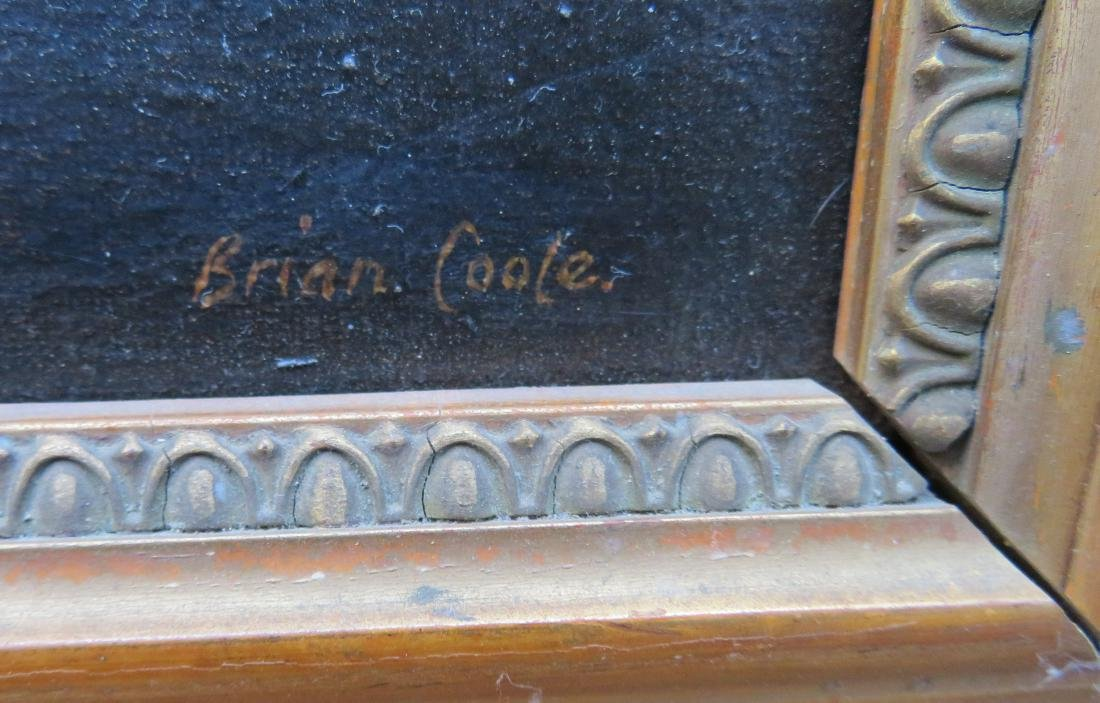 O/C Portrait of Admiral Horatio Nelson, signed Brian - 4