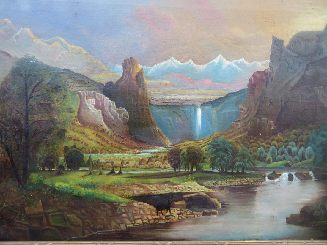 O/C Primitive landscape of mountains, waterfall and - 2