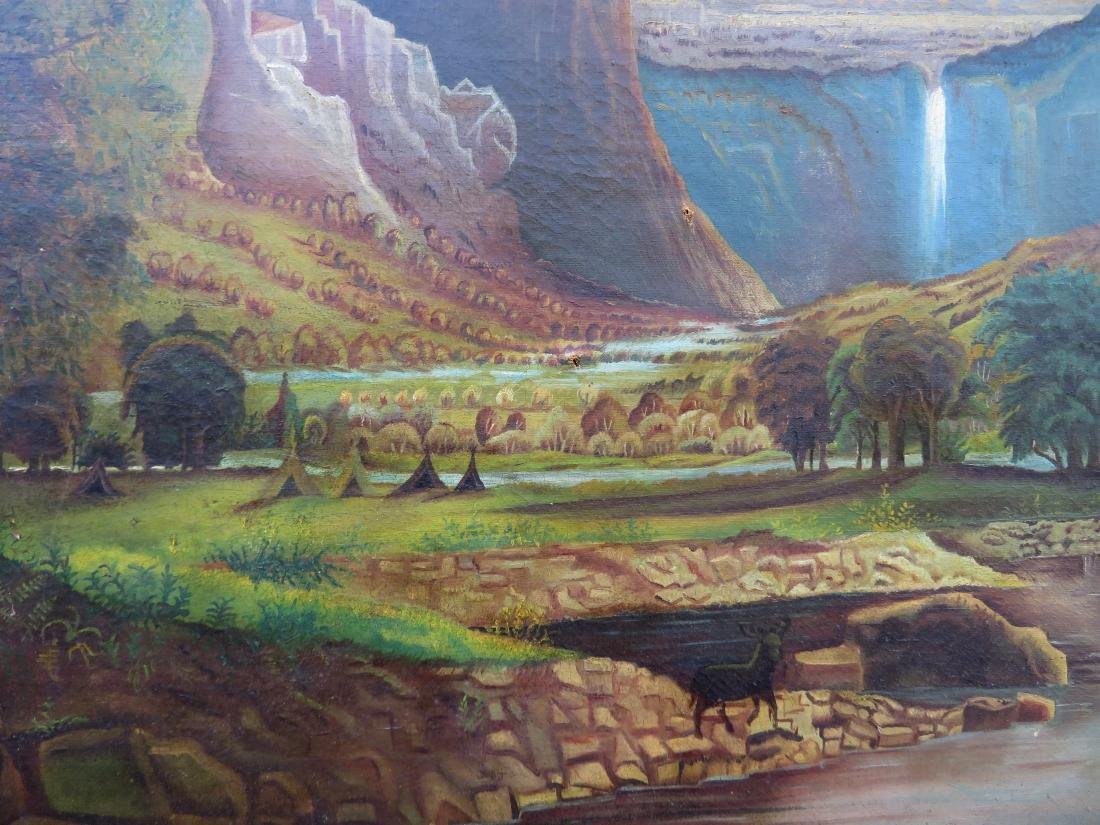 O/C Primitive landscape of mountains, waterfall and - 3