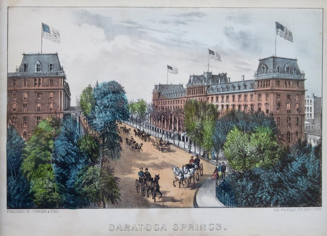 Original Currier & Ives hand colored lithograph - 2