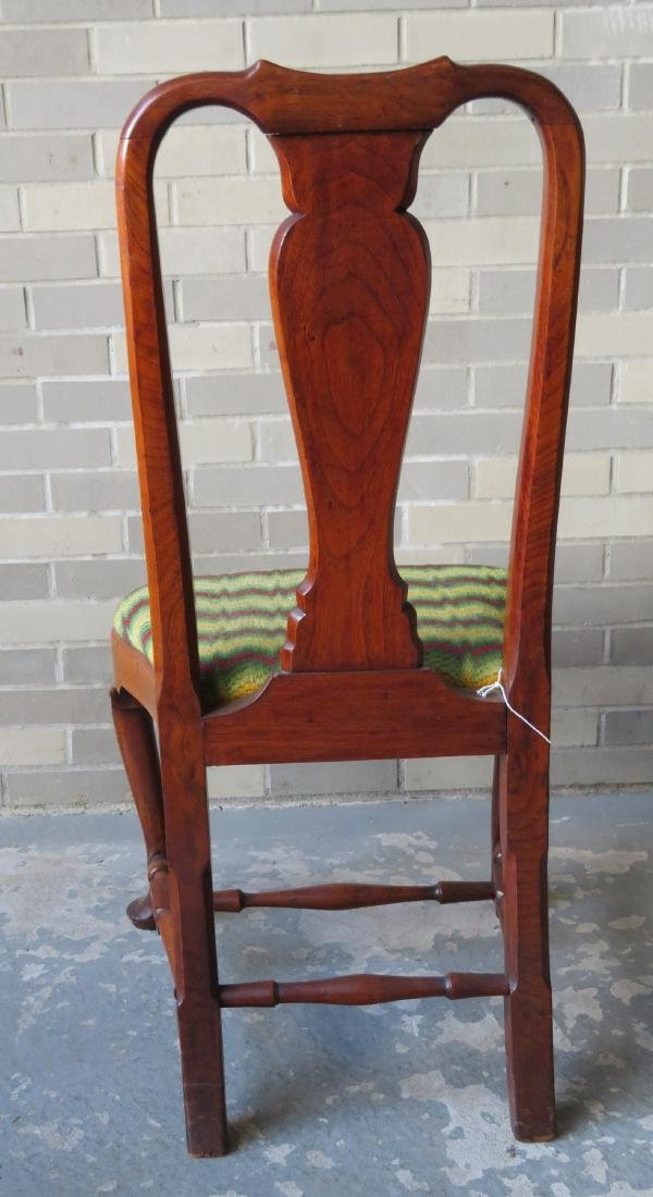 Boston Queen Ann walnut side chair with compass-seat, - 2
