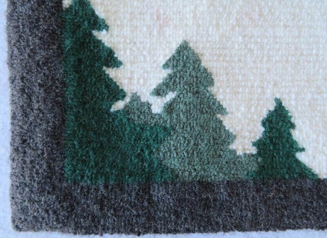 Newfoundland Grenfell hooked mat featuring an Eskimo - 2