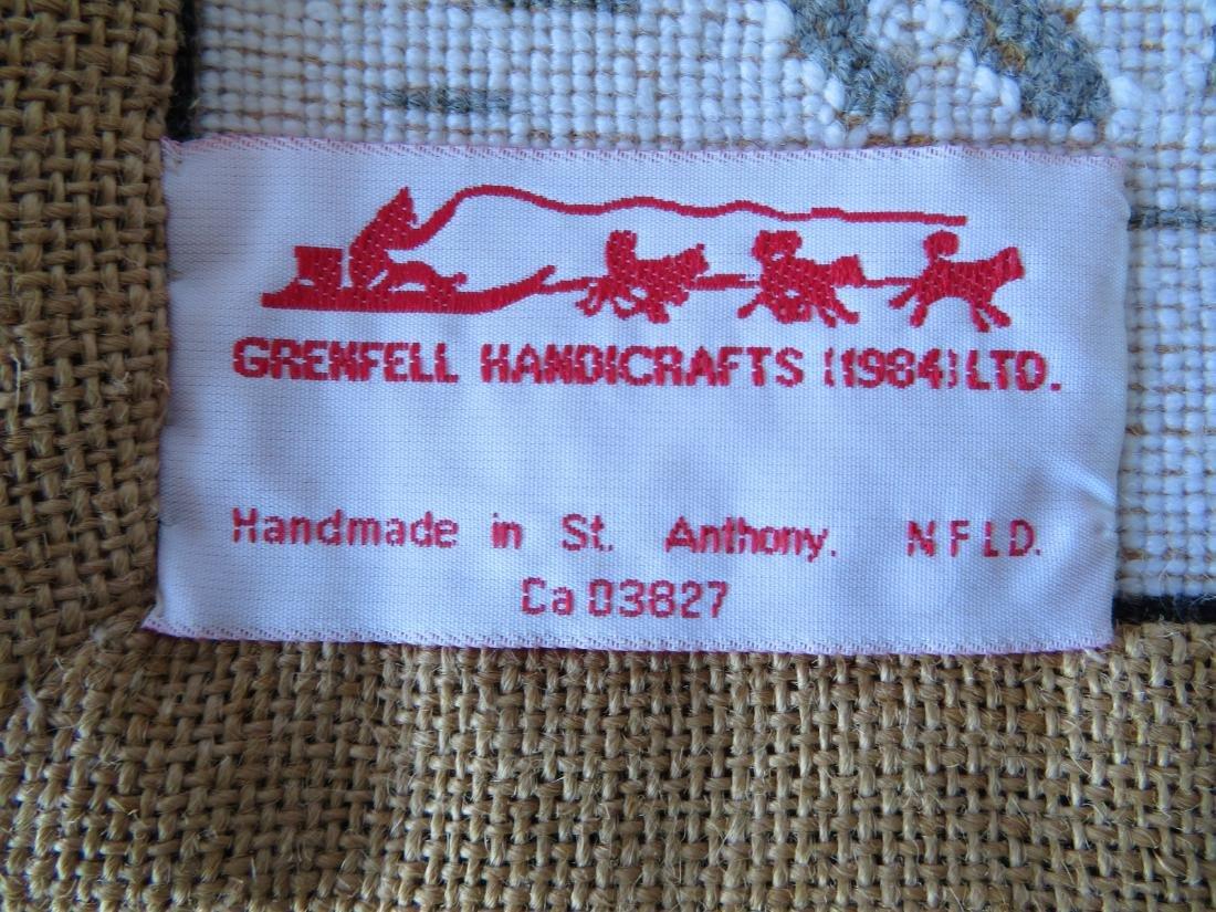 Newfoundland Grenfell hooked mat featuring an Eskimo - 4