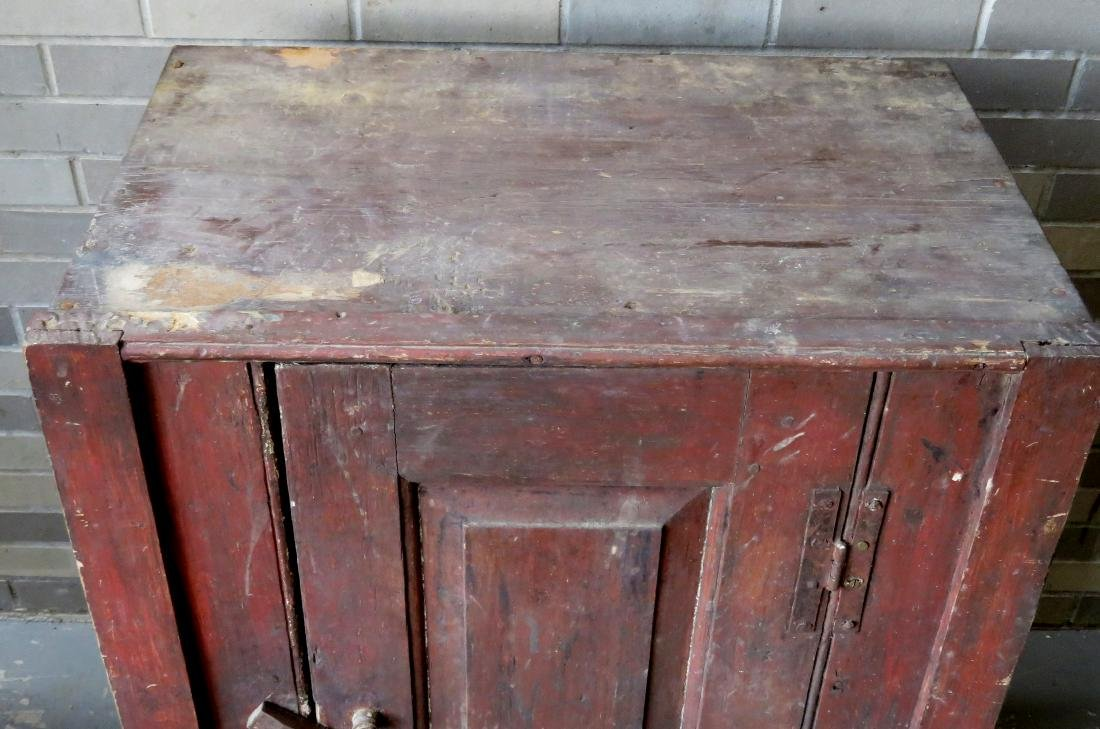 A small single door Hudson Valley floor cupboard with a - 2