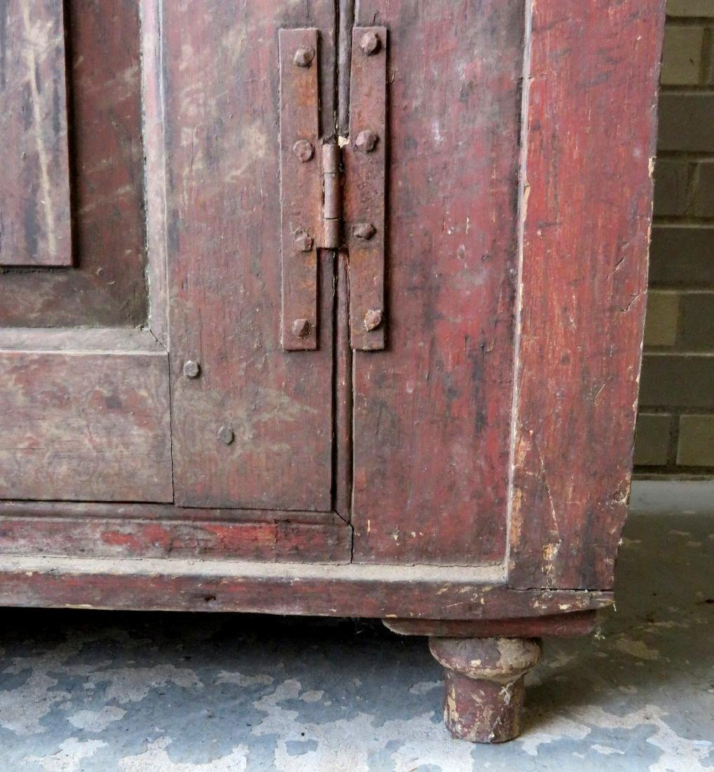 A small single door Hudson Valley floor cupboard with a - 4