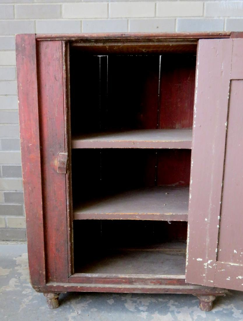 A small single door Hudson Valley floor cupboard with a - 5