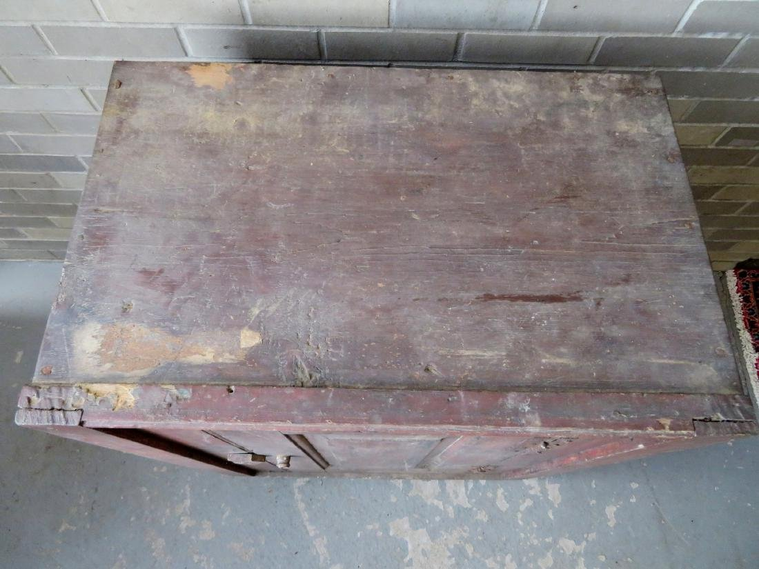 A small single door Hudson Valley floor cupboard with a - 6