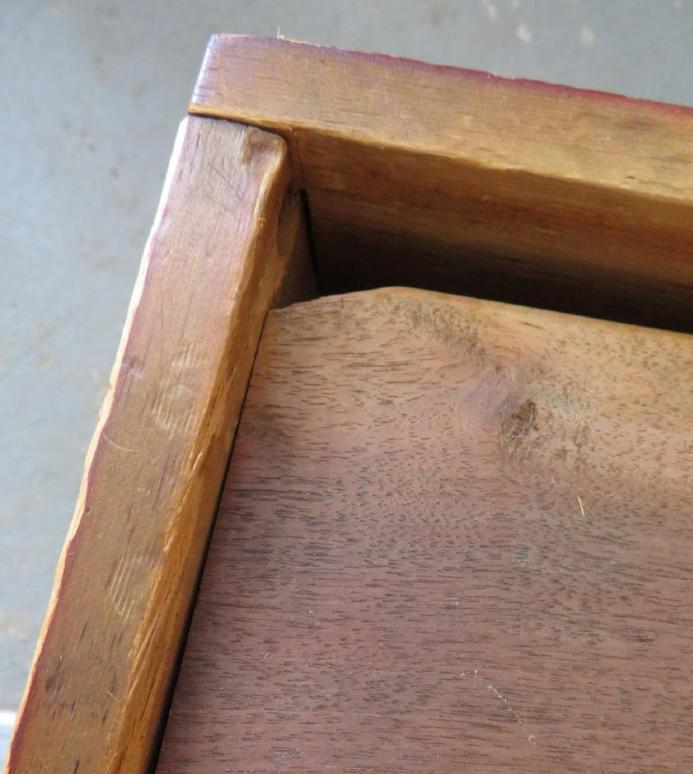 Blanket box in original red paint with interior till - 5