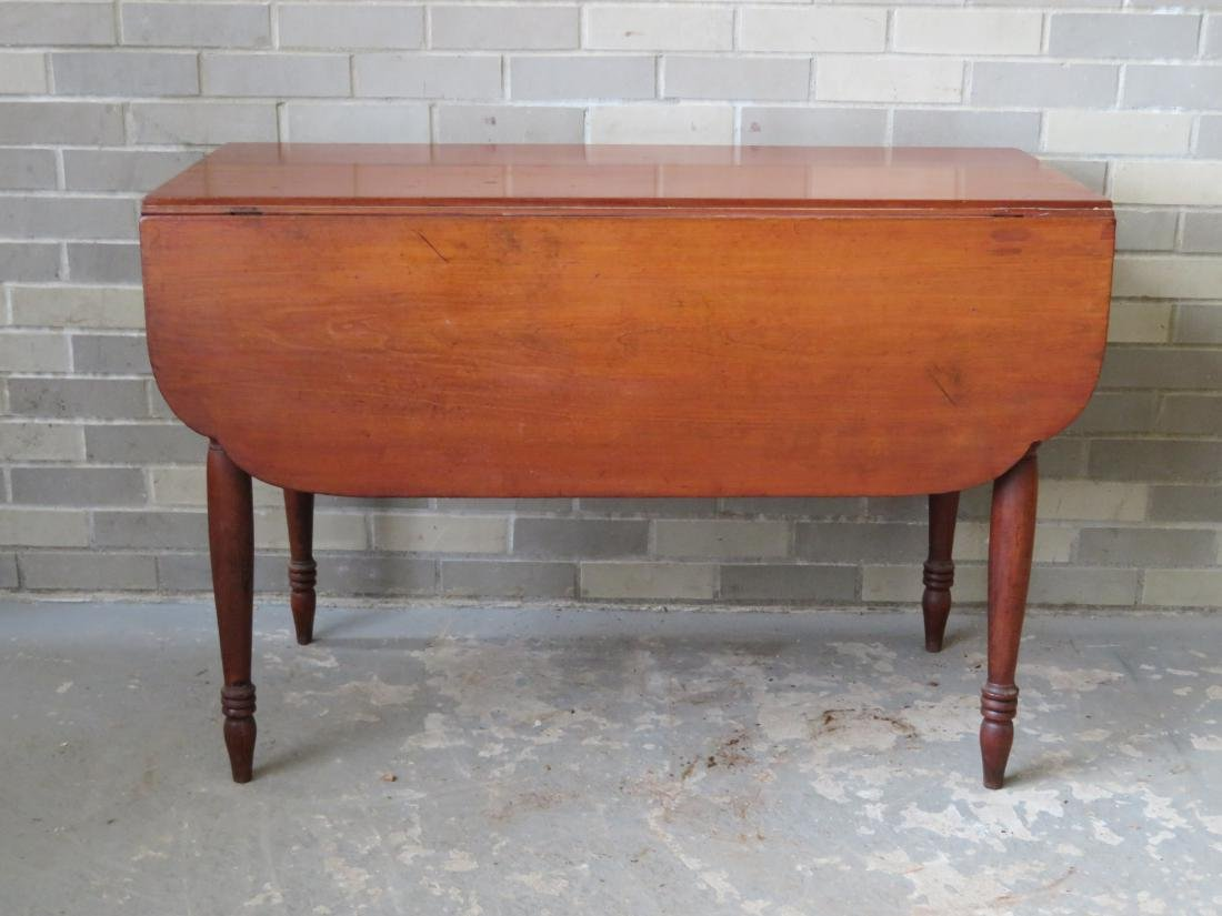 Cherry Sheraton drop leaf table with shaped leaves,