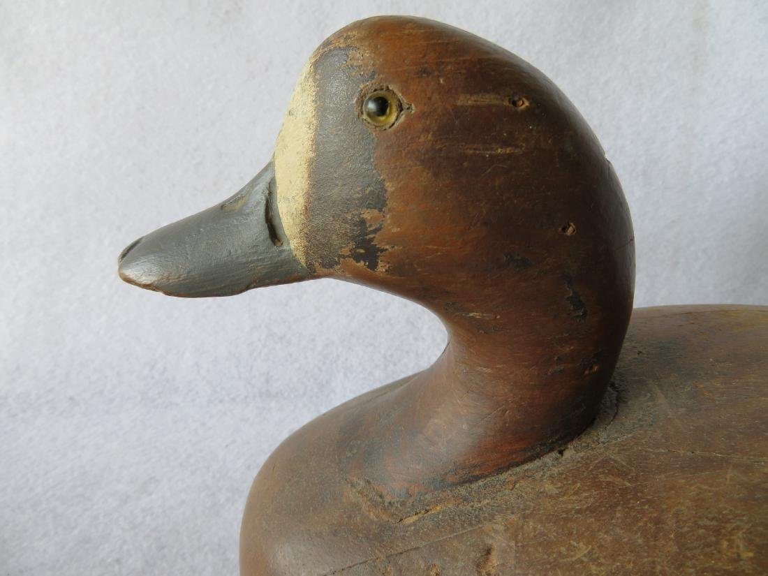 Wildfowler Bluebill decoy in original paint, early 20th - 3