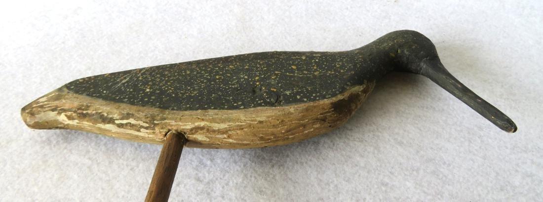 Flattie shorebird decoy with notched tail, original - 4