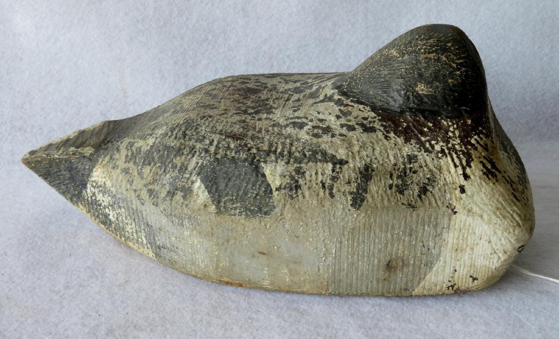 Primitive sleeping decoy, Maine origin, in original