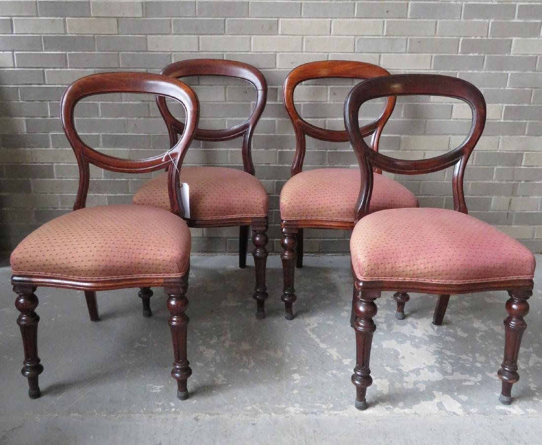 Set of 4 late Empire DR chairs with newer upholstered