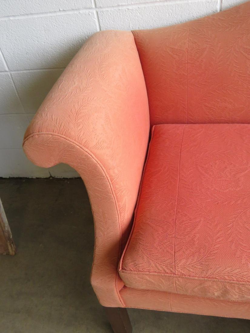Kittinger Chippendale style camel back upholstered sofa - 4