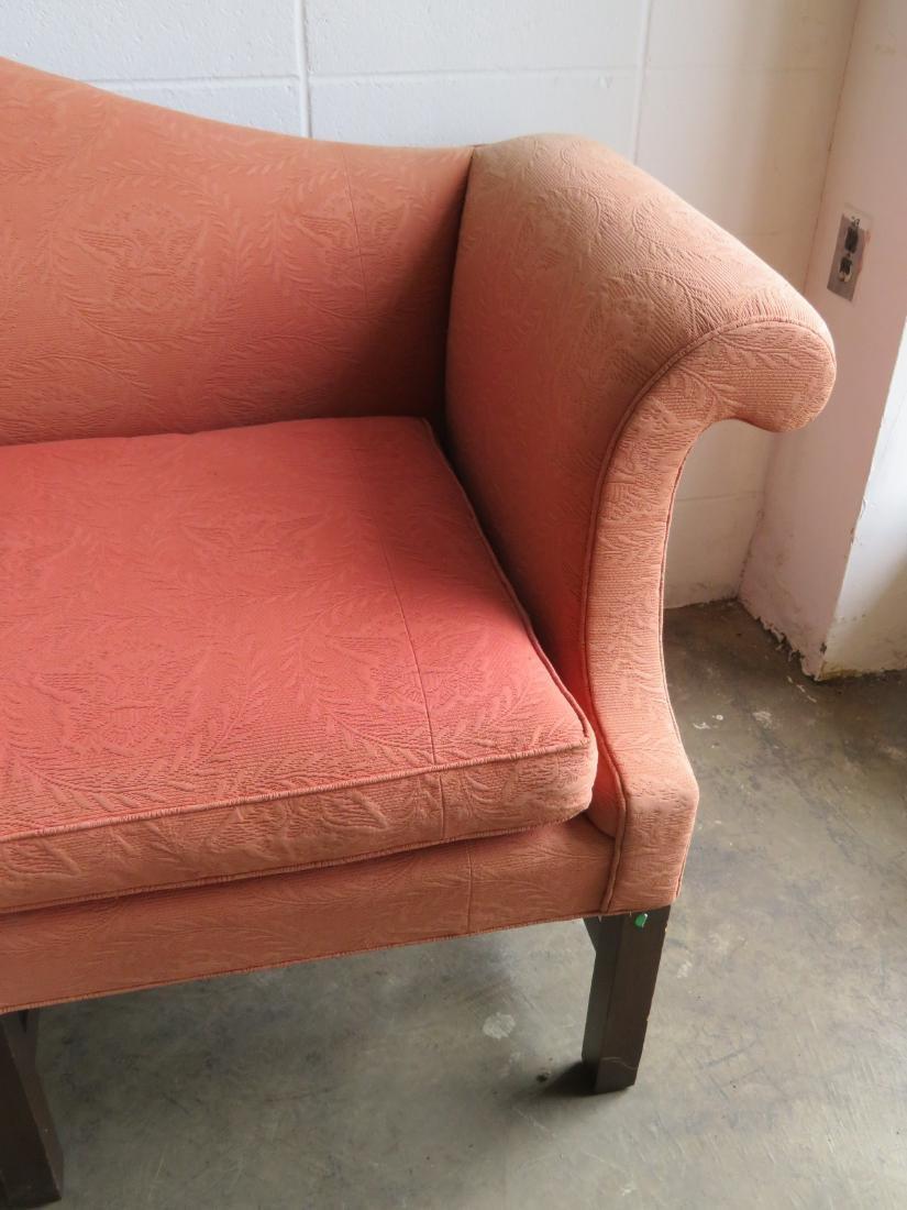 Kittinger Chippendale style camel back upholstered sofa - 5