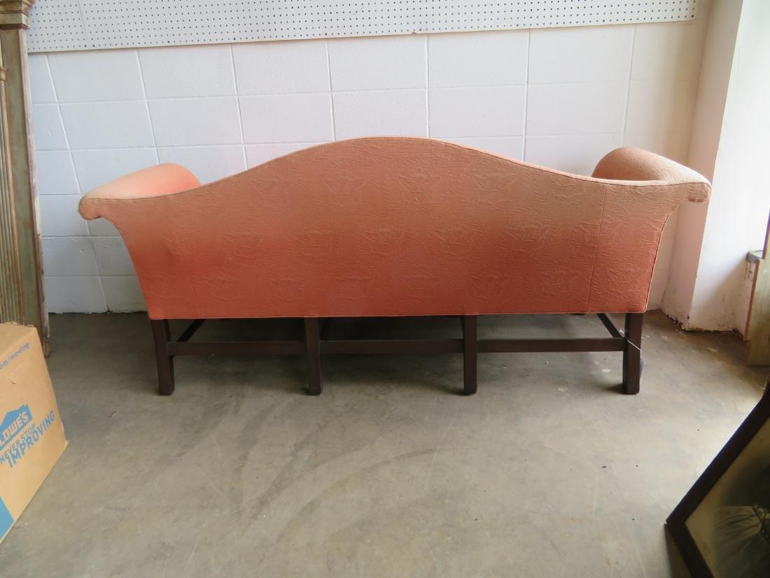 Kittinger Chippendale style camel back upholstered sofa - 7