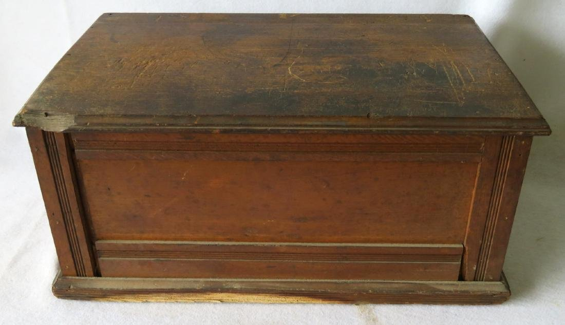 Three drawer oak spool cabinet marked on drawers - 5