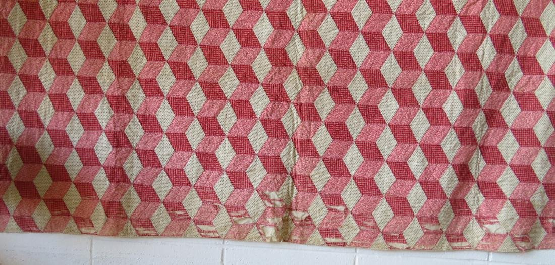 Two patchwork quilts in the rolling block pattern: 1) - 8
