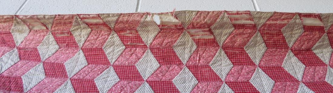 Two patchwork quilts in the rolling block pattern: 1) - 9